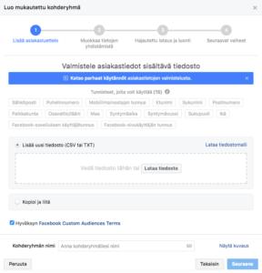 Facebook targeting tactics
