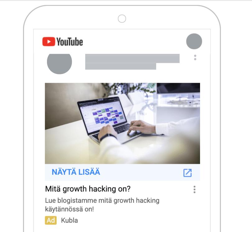 Youtube mainonta discovery ads