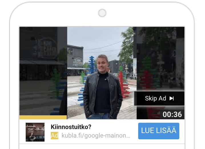 Youtube mainonta instream-mainos