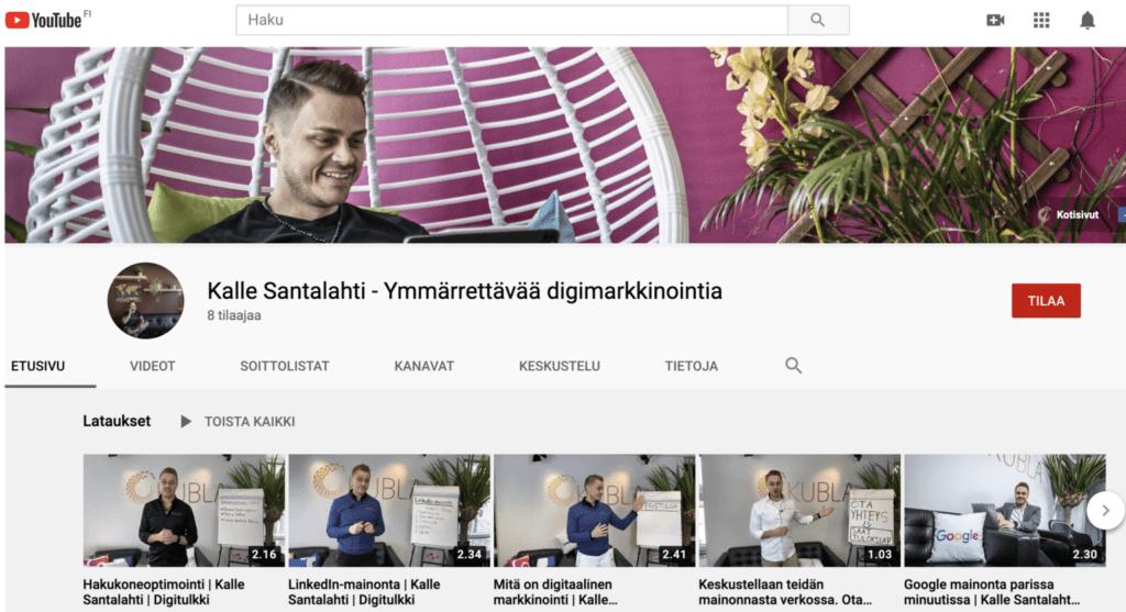 Youtube mainonta kanava